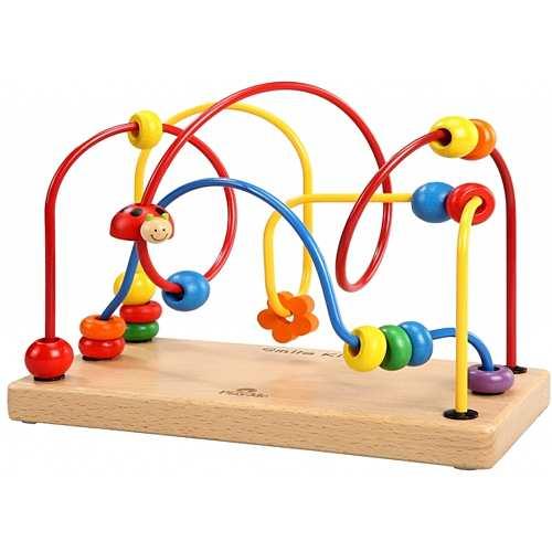 知育玩具 1歳 2歳 プレイミートイズ社 ダンシングループ 木のおもちゃ ビーズコースター 赤ちゃん 子供 木製 知育 出産祝い  誕生日プレの通販はau PAY マーケット - ニコリ