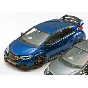 1:43 #45355 EBBRO Honda Civic Type R 2015 Brilliant sporty Blue metallic fk2r