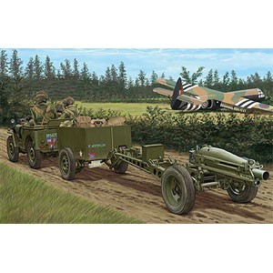 ブロンコ 1/35 英・1/4トン空挺用小型兵員車&75mmパックハウザー+降下 ...