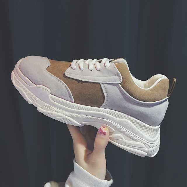 上品質 レディース シューズ レディース 靴 スニーカー 厚底 スポーツ 運動靴 歩きやすい 厚底靴 ベージュ 灰色2色jbj432|au Wowma!