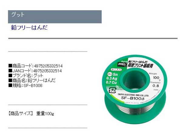 送料無料】 はんだ 鉛フリーはんだ 100g 0.8mm (基板や電子デバイスに ...