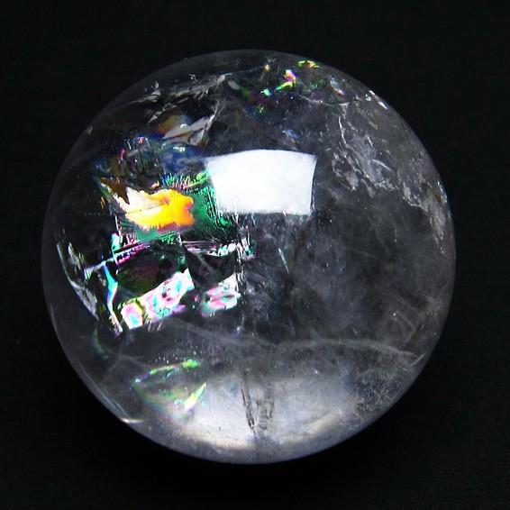 水晶 丸玉 スフィア 虹入り 61mm [送料無料] 151-3555