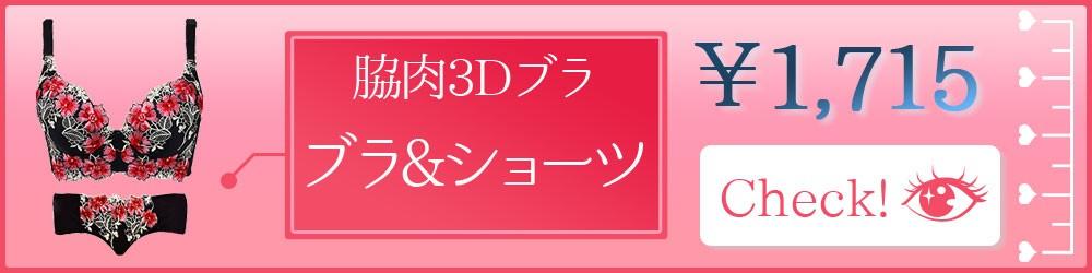 脇肉3Dブラセットボタン