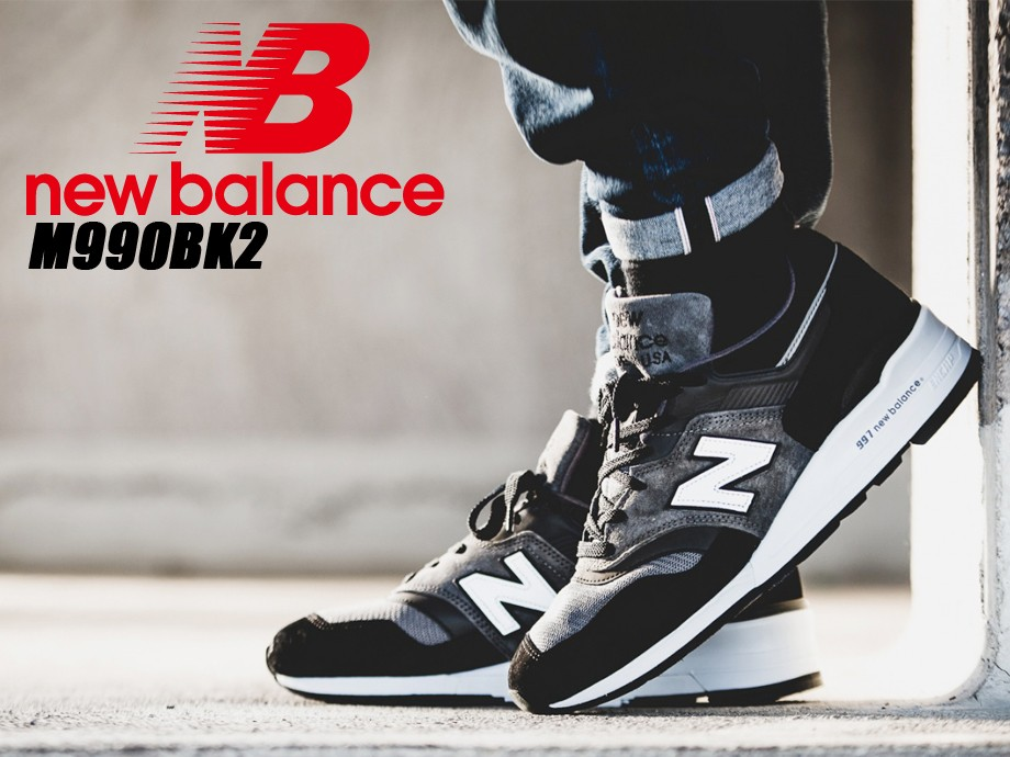 ニューバランス 990 メンズ new balance スニーカー  M990BK2 Dワイズ  靴 ブラック [予約商品 5/18頃入荷予定 新入荷]