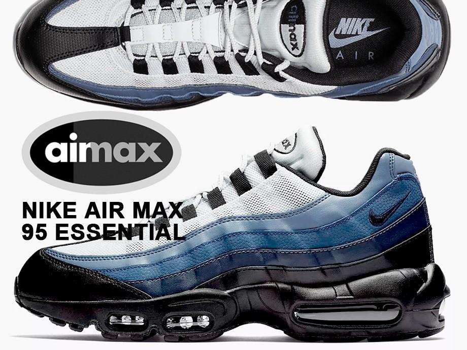 ナイキ NIKE エアマックス95 エッセンシャル スニーカー メンズ AIR MAX 95 ESSENTIAL 749766-028 ブラック