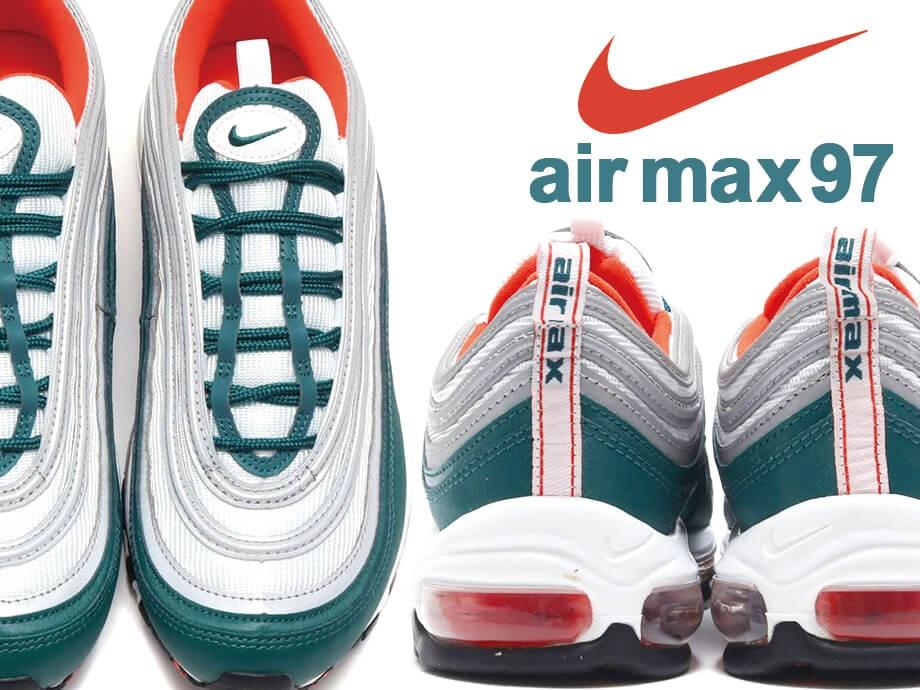 ナイキ NIKE エアマックス97 スニーカー メンズ レディース AIR MAX 97 921826-300 グリーン