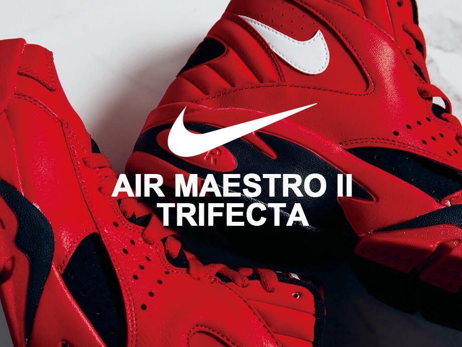 ナイキ NIKE エアマエストロ 2 スニーカー メンズ AIR MAESTRO II TRIFECTA AJ9281-600 レッド