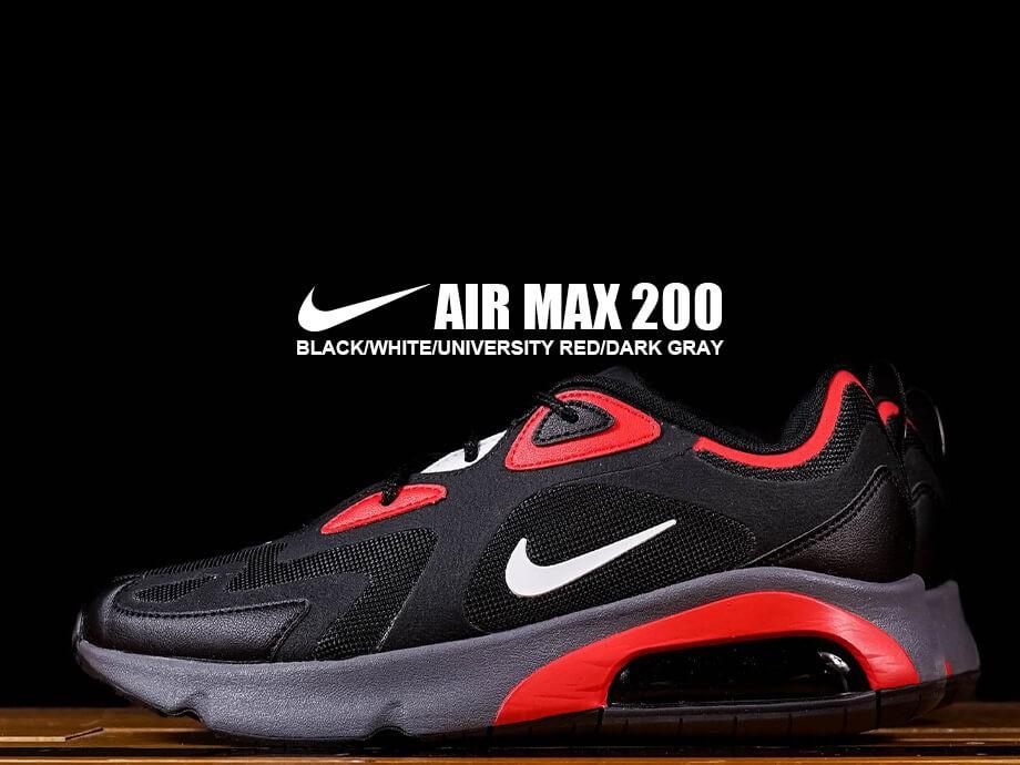 ナイキ NIKE エアマックス200 スニーカー メンズ AIR MAX 200 ブラック 黒 CI3865-002