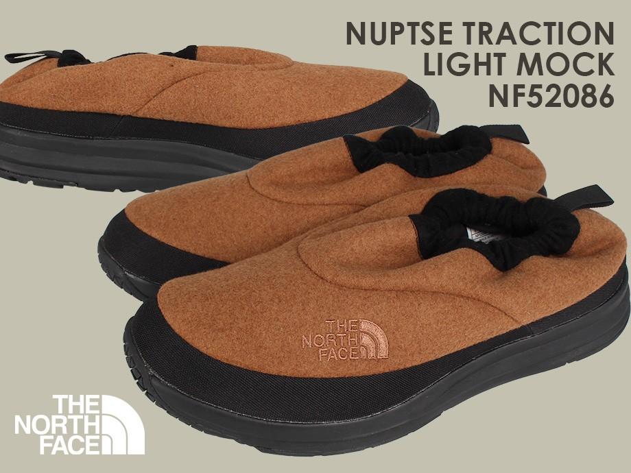 ノースフェイス THE NORTH FACE ヌプシ トラクション ライト スリッポン モックシューズ ルームシューズ NF52086 9月 新入荷