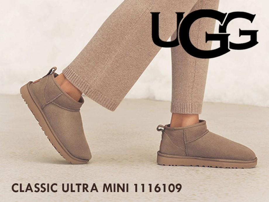 UGG アグ ムートンブーツ クラシック ウルトラ ミニ レディース シープスキン CLASSIC ULTRA MINI 1116109