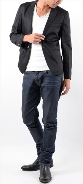 メンズ/テーラードジャケット/ジャケット/1ボタン/長袖/スーツ/ファッション/年間定番/春物