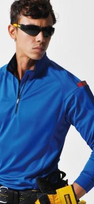 バートルBURTLE 413 長袖ジップシャツ