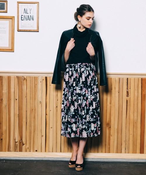 DURAS オリジナル柄プリーツスカート