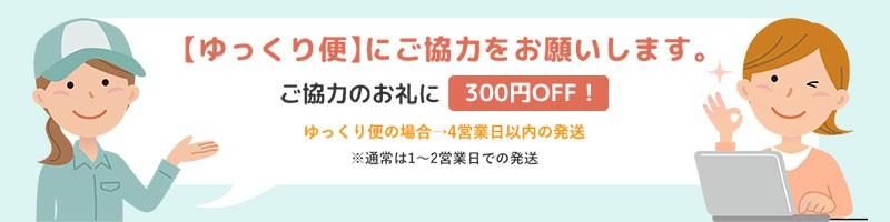 ゆっくり便300円OFFクーポン