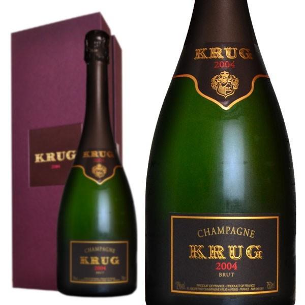 シャンパン クリュッグ ブリュット 2004年 750ml 箱入り 正規 (フランス シャンパーニュ 白) 送料無料