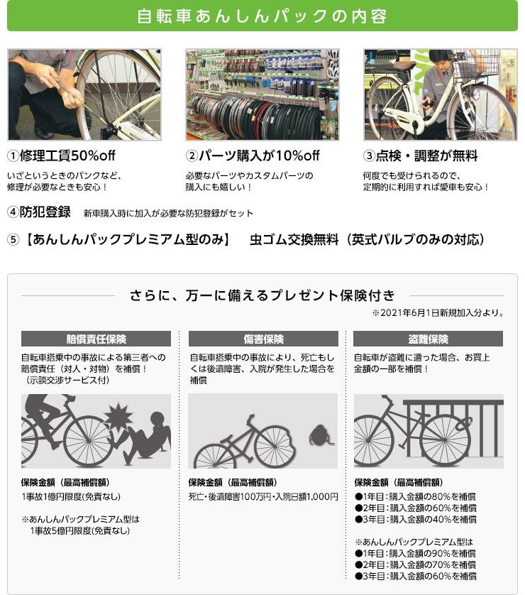 自転車安心パックの4つの安心