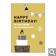 お誕生日お祝い用メッセージカード【MBF-05】