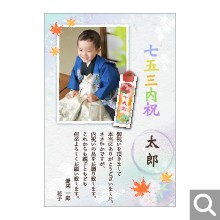 七五三内祝用メッセージカード【S7-05】