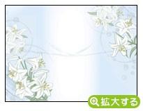各種弔事用のし紙【E-6 しらゆり