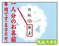 出産内祝用のし紙【V-6 メルヘン ブルー(写真入)】