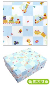 包装紙【N-5 ブルーアニマルキッズ】