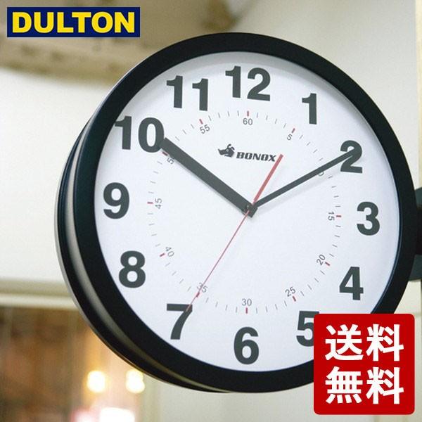 DULTON ダブルフェイス ウォールクロック ブラック