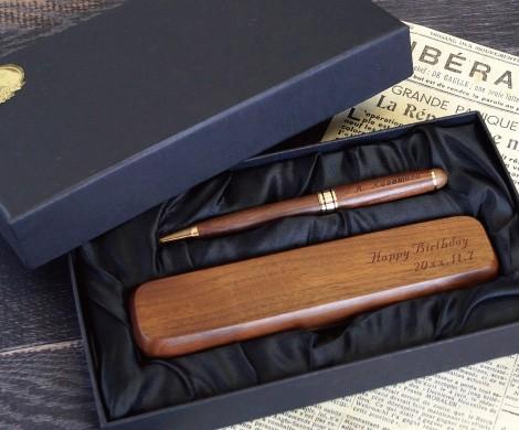 木製ボールペン&ケース