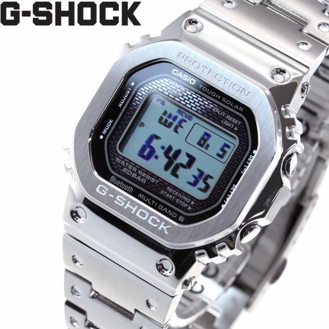カシオ Gショック CASIO G-SHOCK デジタル ソーラー 電波時計 Bluetooth ブルートゥース 対応 腕時計 メンズ フルメタル シルバー GMW-B5000D-1JF