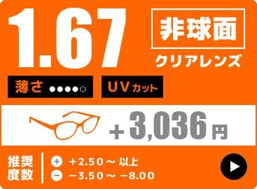 1.67非球面レンズ