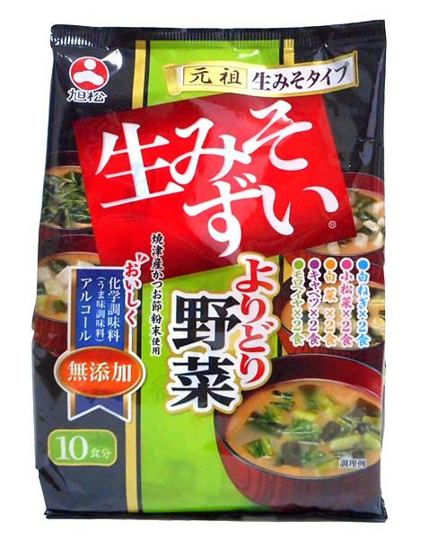 旭松食品 生みそずい無添加よりどり野菜 10食 199g(19.9g×10食) ×10個【イージャパンモール】