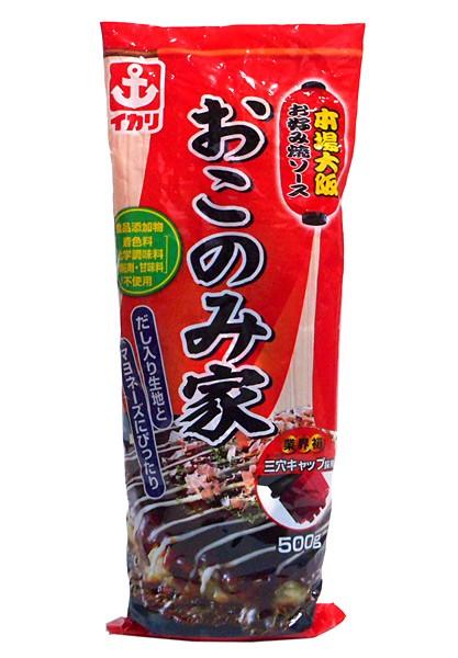 イカリソース お好み焼ソース おこのみ家 500g ×10個【イージャパンモール】