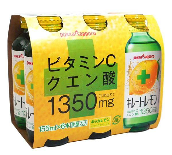 ★まとめ買い★ ポッカサッポロ キレートレモン155ml(6本パック) ×4個【イージャパンモール】