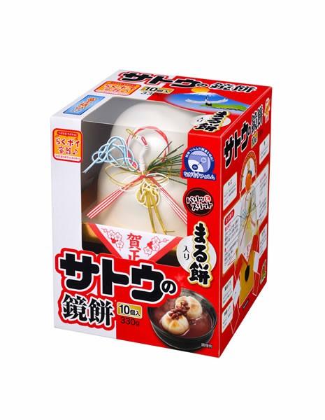 ★まとめ買い★ サトウ サッと鏡餅丸餅入り330g ×12個【イージャパンモール】