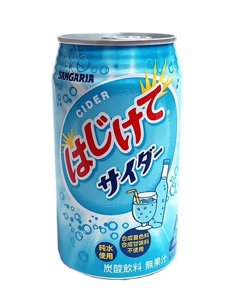 ★まとめ買い★ サンガリア はじけてサイダー 350g缶 ×24個【イージャパンモール】