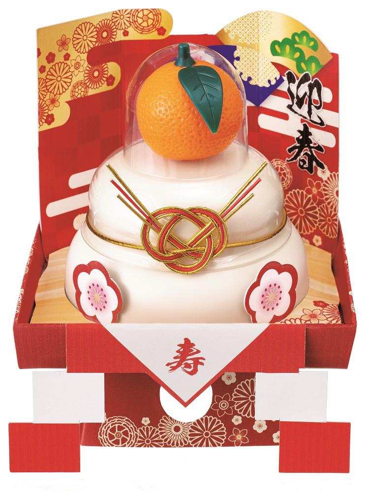 【鏡餅】★まとめ買い★ GM-80 たいまつ お鏡餅 こもち 彩三方 華飾り 橙 60g ×24個【イージャパンモール】