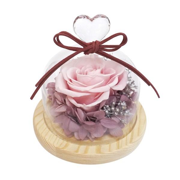 【送料無料】【母の日】母の日 ガラスドームアレンジメントハート/ピンク B13520【ギフト館】