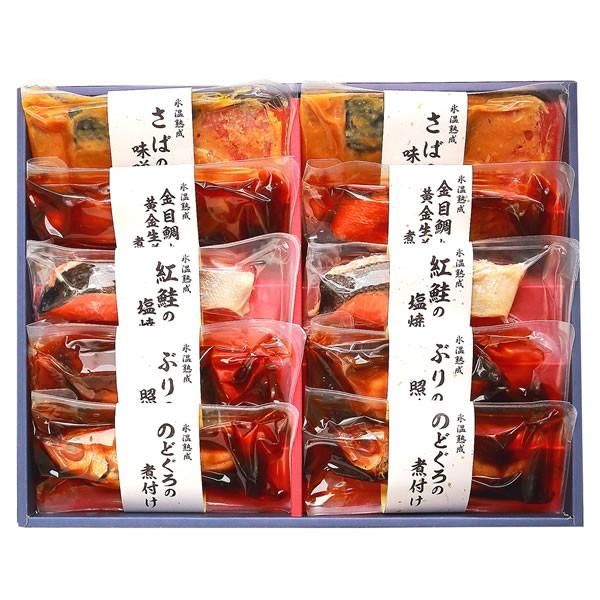 【送料無料】【父の日】山陰大松 (父の日限定包装)氷温熟成煮魚焼魚ギフトセット10切 SNYG-100【ギフト館】