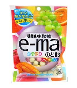 UHAピピン e-maのど飴袋カラフルフルーツチェンジ 50g【イージャパンモール】