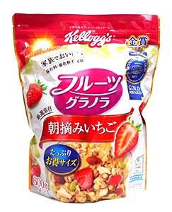 ケロッグ フルーツグラノラ朝摘みいちご 600g【イージャパンモール】