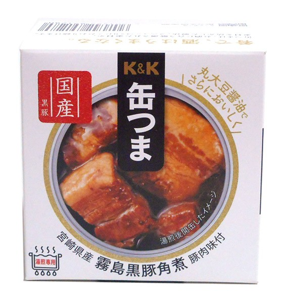 K&K 缶つま宮崎県産霧島黒豚角煮150gEO【イージャパンモール】