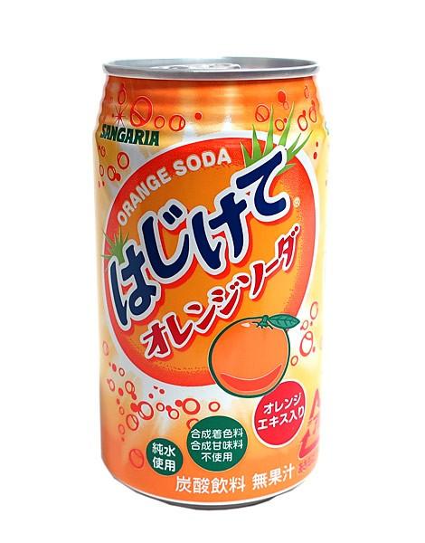サンガリア はじけてオレンジソーダ 350g缶【イージャパンモール】