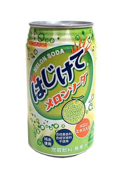 サンガリア はじけてメロンソーダ 350g缶【イージャパンモール】