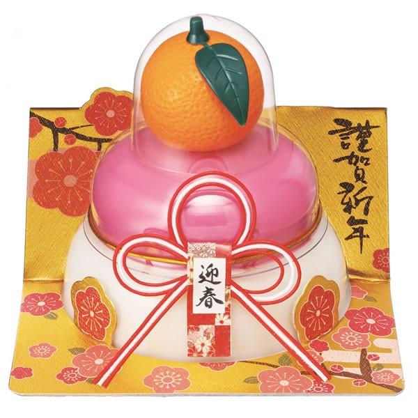 【鏡餅】【G-109】たいまつ お鏡餅橙紅白160g(パッと鏡開き)