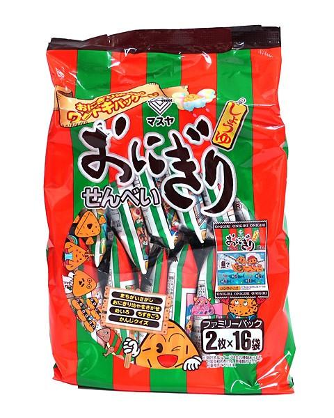 マスヤ おにぎりせんべいファミリーパック 2枚×16袋【イージャパンモール】