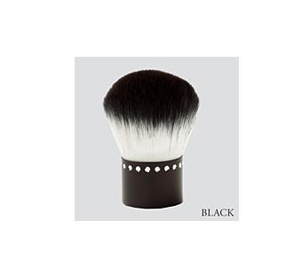 あかしや akashiya化粧筆 カブキブラシラインストーン ブラック K20-BK 23g【逸品館】