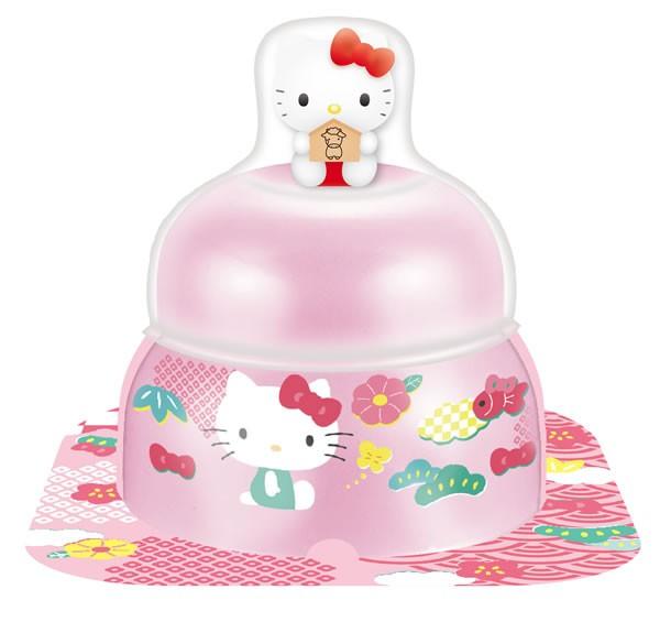 【鏡餅】サトウ 小飾りキティマスコット付ピンク66g【イージャパンモール】