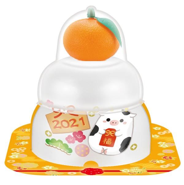 【鏡餅】サトウ 福餅入り鏡餅小飾り干支橙66g【イージャパンモール】