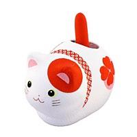 ゆらゆらソーラー 風水座り猫 赤(魔除け)【返品・交換・キャンセル不可】【逸品館】