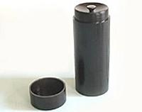 スリム茶筒 (黒)【返品・交換・キャンセル不可】【逸品館】