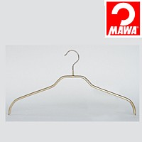 MAWA(マワ)社 3本セット マワハンガー 滑らないハンガー レディースハンガー ゴールド【代引不可】【日用品館】